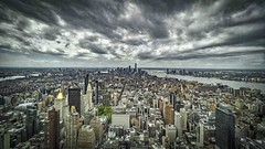 storm over New York (Klaus Mokosch) Tags: storm cloud newyork cityscape city urban panorama architektur architecture building klausmokosch hdr outdoor