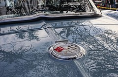 Blue Monday: Always A Classic (~ Liberty Images) Tags: vette corvette logo badging chevy chevrolet blue libertyimages automobile classiccar reflection sunset pumpkinruniirc