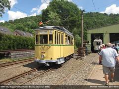 BMB 105 (Lanchid) Tags: bergischemuseumsbahn bmb strasenbahn bahn zug train tram museumsbahn historisch vintage historictrain historictram wuppertal wsw solingen kohlfurt kohlfurterbrücke 105