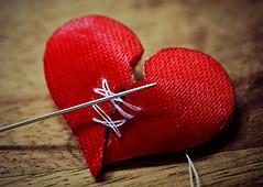 Mending a broken heart 💔 (Through Serena's Lens) Tags: mm macromondays broken heart red needle thread dof stilllife 7dwf texture mending macro