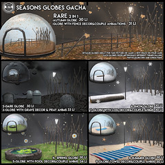 [Since1975]Seasons Globes Gacha AD ([ Since 1975 ]) Tags: snow globe second life sl animated scripted seasons dome