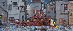 The War Between Four Walls (Summer Joust) (W. Navarre) Tags: les miserables war between four walls flag french revolution rebellion july scene alllego lego roof house
