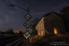 Ya no paran los trenes. (Carlos Server Photography) Tags: canon 1635mm longexposure larga exposicion nightscapes nightphotography abandoned station aranjuez madrid lightpainting fullmoon