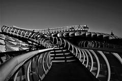 Escaleras (ameliapardo) Tags: sevilla andalucia españa escaleras terraza metropolparasol setasdesevilla arquitectura fujixt1 blancoynegro