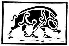 Celtic Boar (lwdphoto) Tags: lance duffin lanceduffin celtic boar pig scotland animal linocut blockprint print printmaking ink art