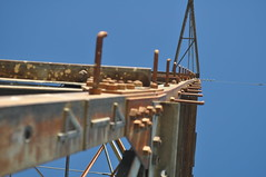ladder to higher power (knowbuddeerides) Tags: abstract high tension tower