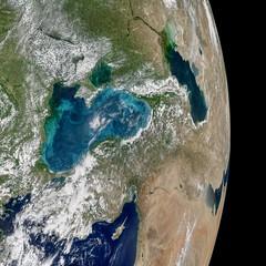 Turquoise Swirls in the Black Sea (NASA's Marshall Space Flight Center) Tags: nasa marshall space flight center msfc goddard gsfc earth noaa aqua moderate resolution imaging spectroradiometer modis