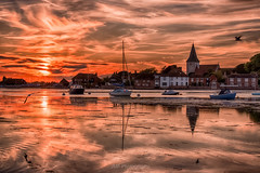Bosham Delight (fieldino34) Tags: bosham sea seascape seaside sussex westsussex chichesterharbour chichester sunset sky sun sunlight hdr nikon nikond750 nikonphotography water reflection church boats fishing mirror harbour calm tranquil tranquility beautiful peaceful seagull clouds cloudscape spring light