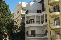 (Boris Zhigun) Tags: israel sahlav taglit sa34814 fujifilm xmount xe1 architecture building eretz telaviv bauhaus windows balcons flag rinbow lgbt