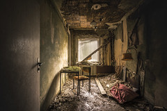 The forever student... (Marco Bontenbal (Pixanpictures.com)) Tags: urbex urban exploring lost hidden world decay decayed abandoned nikon d750 tamron 1530 student forever photography beautiful study pixanpictures europe eu ue urbanexploring old natural light naturallight forgotten history chair germany window lamp