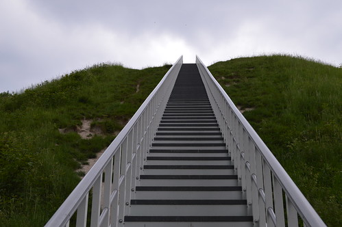 Stairs up to the Castle Mound