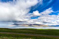 All colors (M-KH) Tags: iceland nature sky cloud clouds fjord rainbow sun sunny mountains lake gulf color colors water grass