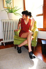Out-take (Kuriosum) Tags: vintage vintageclothing woc womanofcolor vintageshoes dress outtake fashion vintagefashion