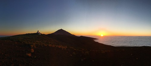 Panoramic View of Teide National Park in Tenerife at Sunset
