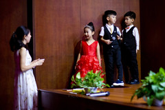 HD Kindergarten Graduation- Introductions from our Hosts 06 (C & R Driver-Burgess) Tags: child kids preschool boy girl woman awards gift present give row line orederly formal speech welcome congratulations warm