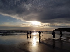 Sunset on the beach (hollycook3) Tags: sunset beach foreboding dark