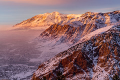 Malan's Sunset (Ryan Moyer) Tags: inversion malanspeak mountains ogden snow sunset utah landscape sky