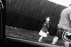 curious little girl~ (andy961688) Tags: blackandwhitephotography blackandwhite bw black white streetphotography iphoneography outofthephone mobilephotography awesome cool grainy girl iphone iphone4