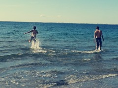 Dänemark (Harald Reichmann) Tags: dänemark odsherred lyngbakken meer wasser mensch horizont strand sommer