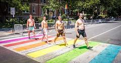 Just a short stroll while making history. #dcrainbowcrosswalks #WeareDC #LGBTQ #asdcgoessogoesthenation #fitness