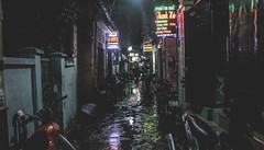 Black Saigon (cristianfranco) Tags: city black dark sreet neon scary creepy backstreet vietnam ho chi minh trip lights colours