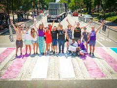 2017.06.10 Painting of #DCRainbowCrosswalks Washington, DC USA 6412