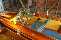 Goodwood & Dream in the showroom (stephen allen2016) Tags: peterfreebodyshurley slipperstern boat thames hurley