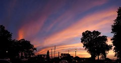 Beautiful Sky (markchevy) Tags: panorama clouds sunset red orange evening dusk pink colorful oceangrove neptune sea nj newjersey landscape photo pictorial pix scene graphic atlantic picture vista omdem10 interesting markchevy johnspilatro