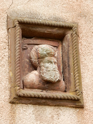 Groovy wall carving, Fyvie Castle
