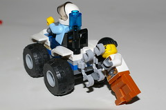 TO JAIL YOU GO ! (kingkong21) Tags: lego atv arrest police robber