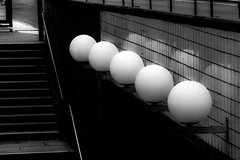 Lightballs (andersåkerblom) Tags: urban city lights monochrome blackandwhite
