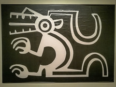 A look at some of the artwork at the museum in Chacas.