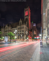 Grant and Fifth (20170526-DSC02085-Edit) (Michael.Lee.Pics.NYC) Tags: pittsburgh alleghenycountycourthouse bnymelloncenter grantstreet fifthavenue night lighttrails traffictrails composite longexposure architecture cityscape hhrichardson sony a7rm2 voigtlanderheliar15mmf45