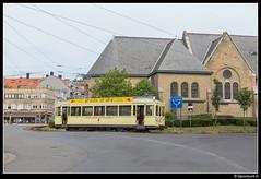 TTO 9942 - Westende Bad (Spoorpunt.nl) Tags: 10 juni 2017 visweekend westende toeristische tram des tijds tto noordzee standaard motorwagen 9942 keerlus bad