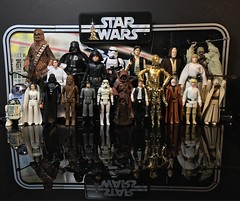 Star Wars 40th Kenner and Hasbro. (chevy2who) Tags: starwars40th toyphotography toy series black blackseries kenner hasbro 40th wars star