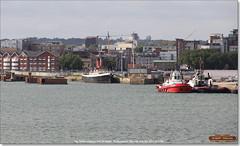 Tug-Tender Calshot, and ZP Boxer, Southampton, June 3rd 2017 (Bristol RE) Tags: tugtender calshot zpboxer tug southampton imo 9597355