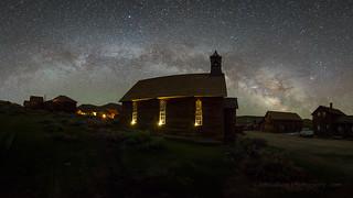 Bodie Church Night Panorama