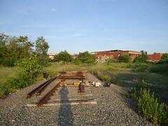 Former siding (tehshadowbat) Tags: abandoned industrial camden nj urban decay urbex ruin factory closed tracks