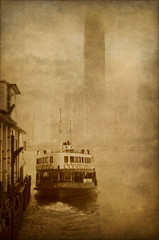 Star Ferry, Hong Kong (EdBob) Tags: hongkong starferry china sepia textured fog foggy traveling travel ferry boat ship water honkkongharbor kowloon terminal ferryboat fun transportation transport asia city urban commute commuting outdoors skyline skyscraper edmundlowephotography edmundlowe allmyphotographsare©copyrightedandallrightsreservednoneofthesephotosmaybereproducedandorusedinanyformofpublicationprintortheinternetwithoutmywrittenpermission wwwedmundlowephotocom