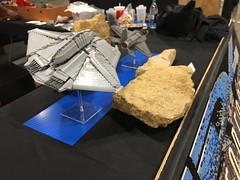 ID4 Independence Day Brickworld Chicago 2017 - setting up (aaron.fiskum) Tags: legoid4 legoindependenceday legofreaks bricks independence day id4 alien fighter alienfighter lego