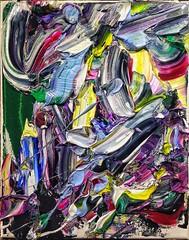 "#josephallenart ""svengali witnesss"" june2017 #oiloncanvas 10""x8"" #abstractpainting (josephallenart) Tags: josephallenart oiloncanvas abstractpainting"