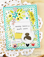 Messy Hair, Don't Care (akeptlife) Tags: card cardmaking papercrafting simplestories domesticbliss diva messyhair house home chores housework housewarming