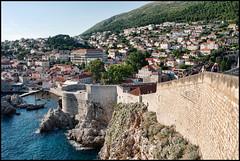 Walls of Dubrovnik (FloydSlip) Tags: dubrovnik croatia walls brick stone water adriatic brown blue red green white