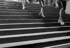 on the right (alain.winterberger) Tags: street streetphotography rue noiretblanc blackwhite nb bnw marche stairs lumix gx80 black white lausanne suisse switzerland schweiz svizerra monochrome