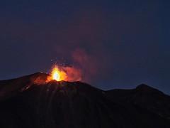volcanic activity (paddy_bb) Tags: travel 2017 olympusomd paddybb omde1 italien italy mediterranean campania kampanien volcano vulkan stromboli eruption vulkanausbruch magma sky tyrrheniansea isola aeolianislands