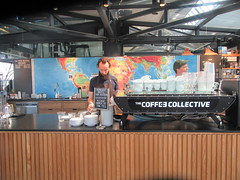 Coffee Collective at the Food Hall (cohodas208c) Tags: cappuccino coffeecollective foodhall torvehallerne copenhagen atthecounter hipster bearded