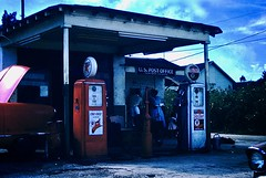 Found Photo - Texaco Station & Newtown Heights, Sarasota Florida  Post Office (Mark 2400) Tags: found photo texaco gas station filling newtown heights florida post office sarasota