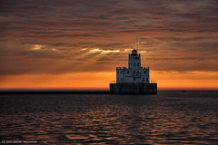 Break Wall Lighthouse (David C. McCormack) Tags: americana artistic eos eos6d environment greatlakes harbor inspiration lakefront lake lakemichigan landscape lighthouse midwest milwaukee spiritual sunriseset sunrise wisconsin water