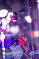 Ari (taianorwood) Tags: arcade focus fun family fashion feel portrait photoshoot picture pose friends arlington drive girl glasses glare ride art gun games game canon canonphotography canont5 capture color colorful city beauty beautiful exposure edit explore exploration 50mm serious lightroom love lip biting neon lights vintage grain tones tone woman hair chill model movement smirk