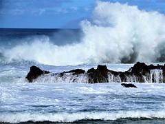 The power of big surf (thomasgorman1) Tags: surf sea ocean beach rocks lavarock waves wave hawaii oahu waimea pupukea stormsurf bigsurf crashing splash nature canon